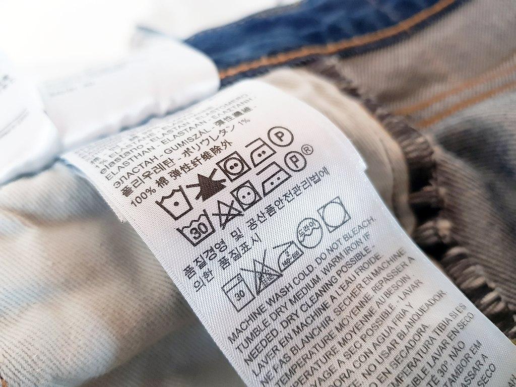 Štítek se symboly praní prádla