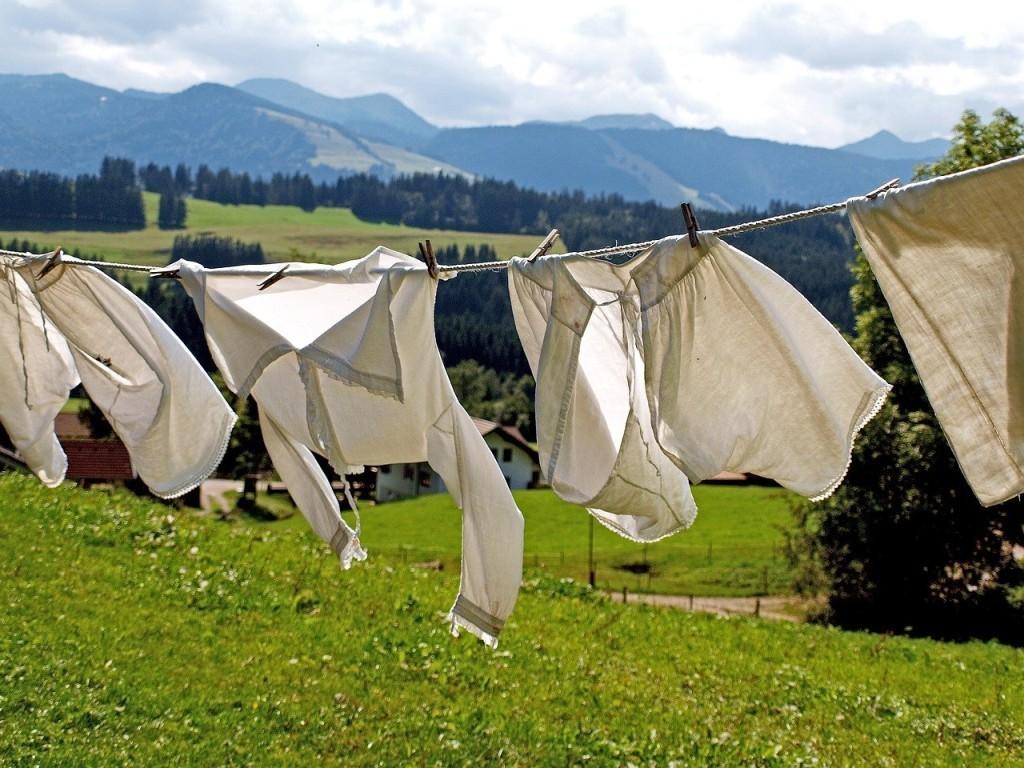 Jak věšet a sušit prádlo na slunci?